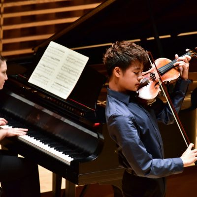 Young artists series at Bowdoin Festival, violin and piano