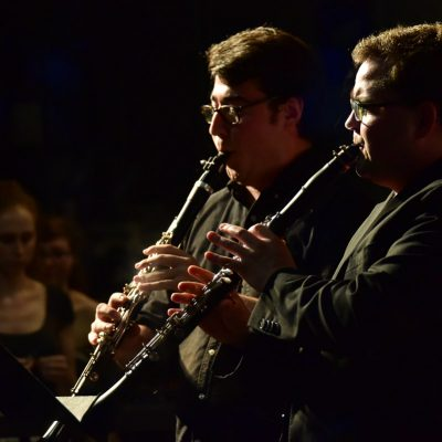 Two clarinet fellows perform at the Bowdoin International Music Festival