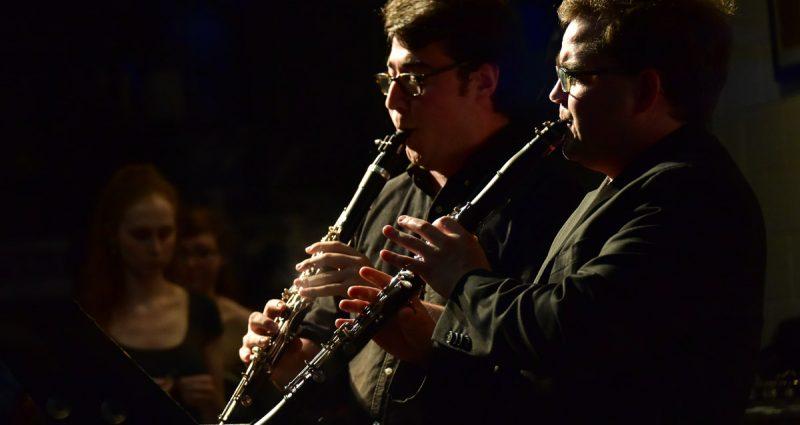 Two clarinet fellows perform at the Bowdoin International Music Festival