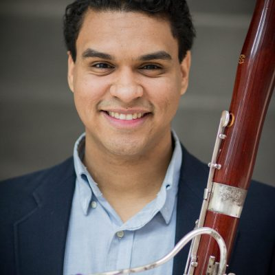Headshot of bassoon fellow Steven Palacio