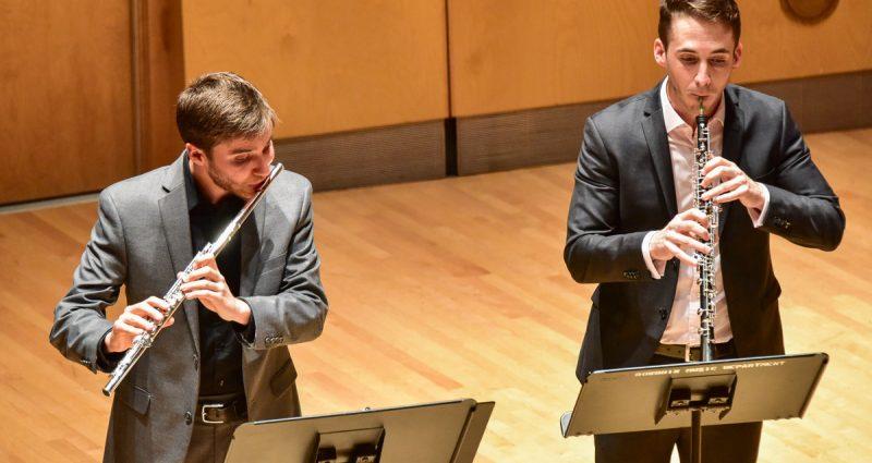 Higdon Janáček and Brahms performing in concert hall