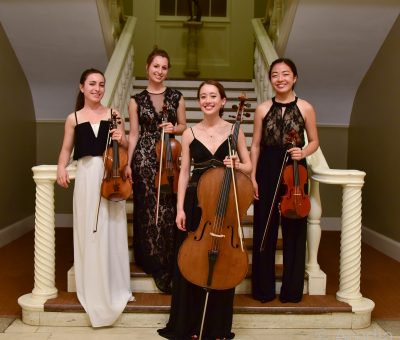 String quartet artists at the Scholarship Gala