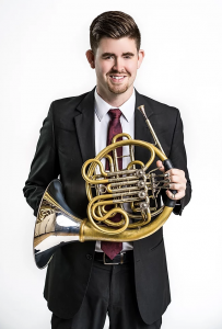 Photo of horn player Cort Roberts