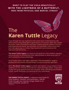 The Karen Tuttle Legacy, back page