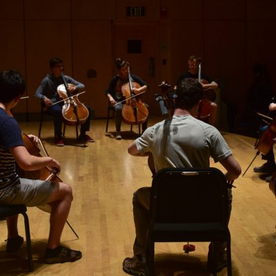 Cellist Amir Eldan Studio Class