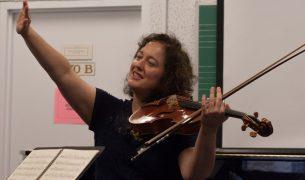 Violist Carol Rodland teaching
