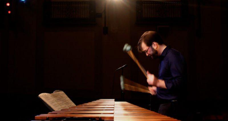 Percussionist Luke Rinderknecht