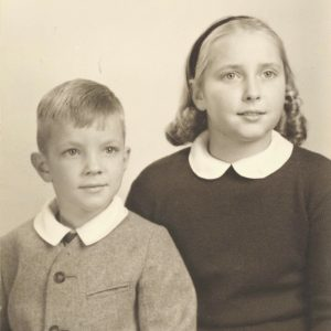 Sally Haggett as a young girl